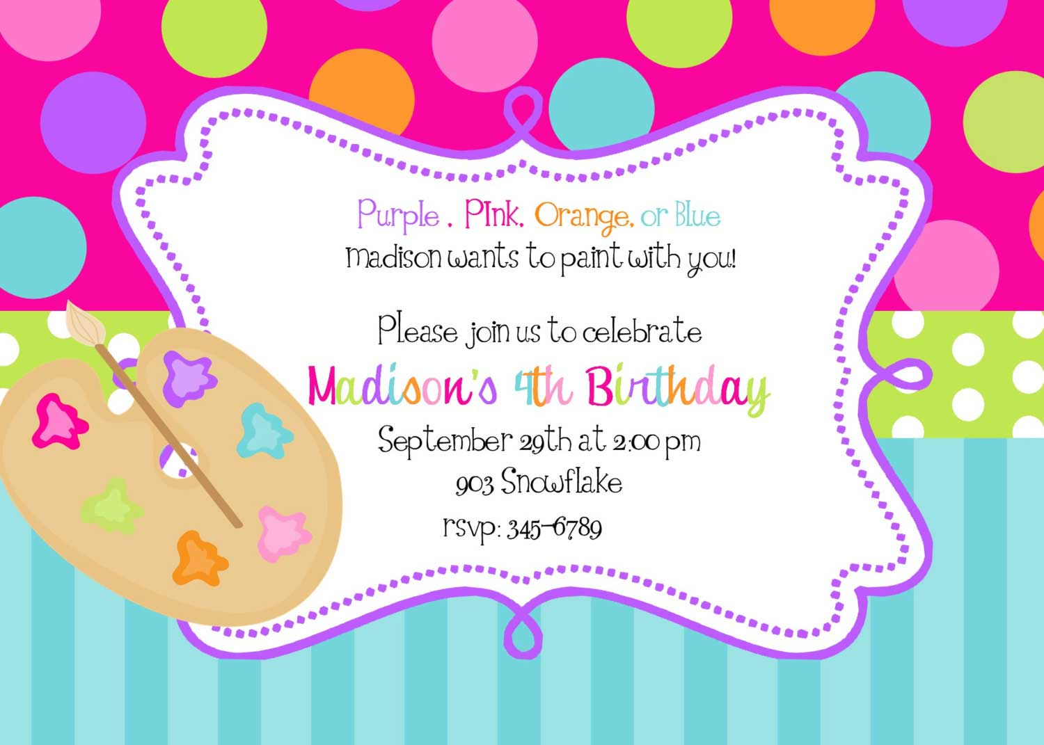 Thank You Party Invitation Gallery - Party Invitations Ideas